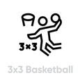 3x3 basketball streetball icon vector image