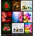 amazing collection of christmas flyers vector image
