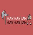 barbarian symbol vector image