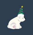 bear in christmas costume vector image vector image