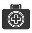 black and white first aid bag graphic vector image vector image