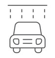 car washing thin line icon clean and service vector image vector image