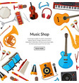 cartoon musical instruments background with vector image vector image