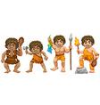 Cavemen vector image