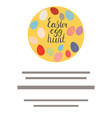 circle with easter egg hunt lettering vector image vector image
