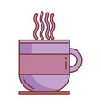 coffee cup hello autumn design icon vector image