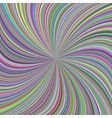 colorful swirl background from curved spiral rays vector image vector image