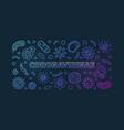 coronavirinae concept linear colorful vector image vector image