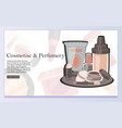 costumes and perfumery web design vector image vector image