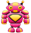 cute big cartoon robot character isolated on white vector image vector image