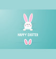 cute easter bunny background 1903 vector image vector image