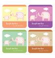 cute elephants card vector image