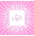 Cute Pink Banner for Princess vector image vector image