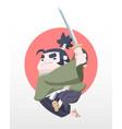 cute style japanese chubby samurai vector image vector image
