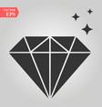 diamond icon simple flat symbol perfect vector image vector image