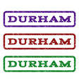 durham watermark stamp vector image