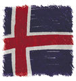 Flag of Iceland handmade square shape vector image vector image