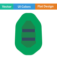 Flat design icon of rubber boat vector image vector image