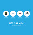 flat icon device set of display resistance vector image vector image