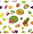 fruits and berries seamless pattern organic vector image