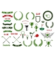 Golf and golfing sport elements or items vector image vector image