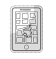 gps on cellphone screen icon image vector image