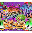 Graffiti wall urban background seamless vector image