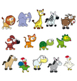 group funny animals vector image vector image