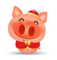 happy chinese new year 2019pig cartoon isolated vector image