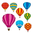 Hot air balloons colorful sketches in retro style vector image
