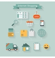 Internet shopping concept vector image