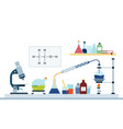 laboratory chemical or biology research flat vector image vector image