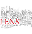 lens word cloud concept vector image vector image
