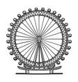 london eye ferris wheel sketch vector image vector image