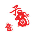 lunar year mouse icon vector image vector image