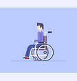 man in a wheelchair - modern flat design style vector image