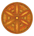 mandala orange decoration oriental decorative vector image vector image