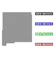 new mexico state map in dot style with grunge name vector image