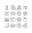 parcel checklist parking and rocket icons vector image vector image