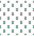 payment bank terminal paper pattern seamless vector image vector image