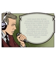 People in retro style Man with microphone vector image vector image