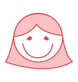 pink women face cartoon vector image