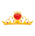 princess diadem with diamonds and precious stones vector image