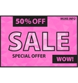 Sale pink banner vector image vector image