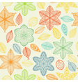 Seamless vintage spring hand drawn pattern vector image vector image