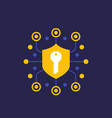 security secure communication and encryption icon vector image