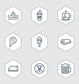 set of 9 meal icons includes ale lolly soda and vector image vector image
