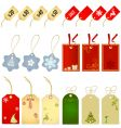 shopping label christmas style vector image vector image