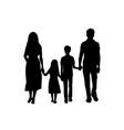 silhouettes family father mother son and daughter vector image vector image