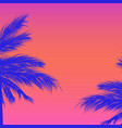 silhouettes palm trees on a gradient vector image vector image